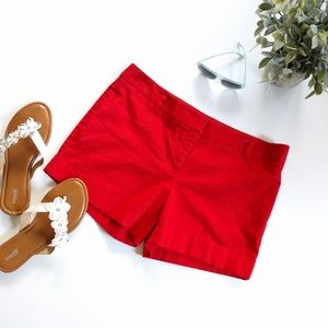 /Express/ red cuffed shorts